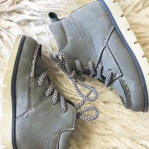 Gray Toddler Boy Boots